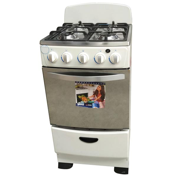 Free Standing Kitchen Oven with 4 Burners  Gas Stoves