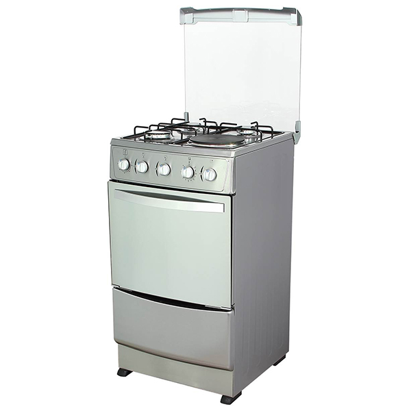 Free Standing Electric Oven with Three Chinese Sabaf  burner sets and one hotplate