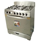 Stainless Steel Free Standing Gas Oven with six Burners Gas Stoves