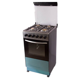 Free Standing Gas Oven + Gas Stoves,Front Stainless steel  with black body