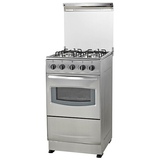 Free Standing Kitchen Gas Oven with Four Brass Burners Gas Stoves