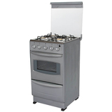 Free Standing Oven+Gas Stoves with Stainless steel body,Glass cover