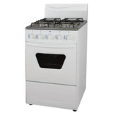 Free standing kitchen oven with four burners gas stoves